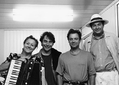 """Avec Maxime Lombard et Bruno Raffaëlli. Photo Danièle Pierre """"Mouche"""", juillet 1996"""